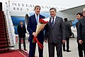 Secretary Kerry Stands With Kyrgyz Foreign Minister Abdyldaev After Arriving in Bishkek For Central Asian Swing (22009334134).jpg
