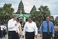 Secretary of Defense Leon E. Panetta, center, tours Angkor Wat with U.S. Ambassador to the U.S. Mission to the Association of Southeast Asian Nations David Carden, left, and Ambassador to Cambodia William Todd, 121116-D-BW835-1227.jpg