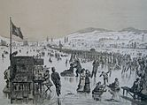 Seegfrörni January 1880, drawing by J. Weber