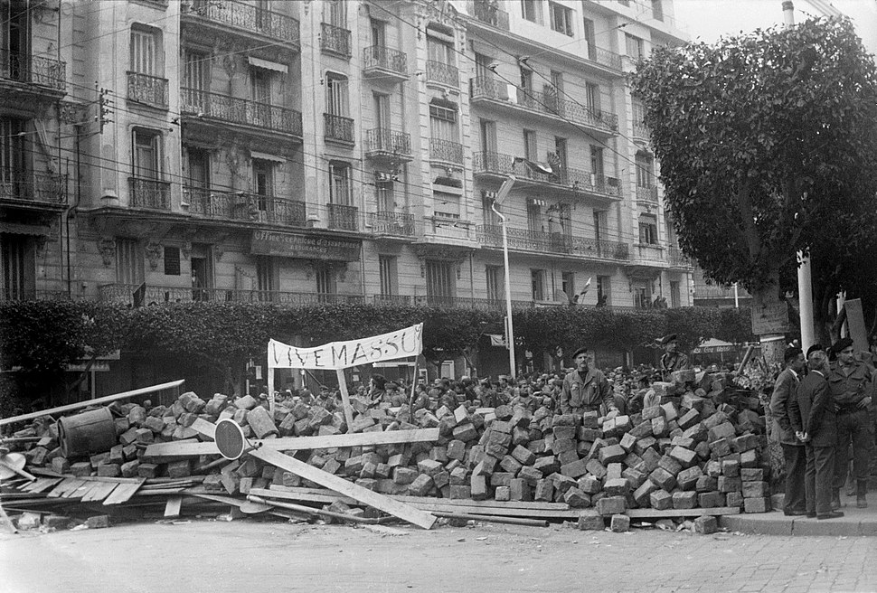 Semaine des barricades Alger 1960 Haute Qualité