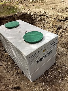 Septic tank method for basic wastewater treatment (on-site)