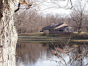 Shakamak State Park - The Nature Center on the west side of the lake