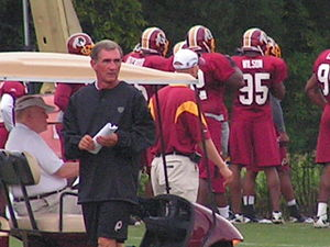 Mike Shanahan - Mike Shanahan at an Open Practice on August 5, 2010 at Redskins Park in Ashburn, VA