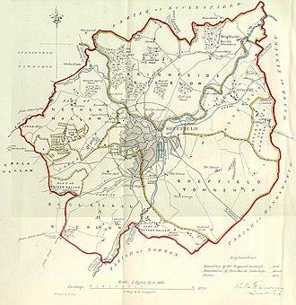 Great Sheffield Flood - Sheffield in 1832
