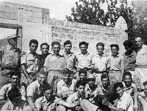 Al-Shaykh Muwannis - Members of Harel Brigade on technical training course at Al-Shaykh Muwannis, 1948