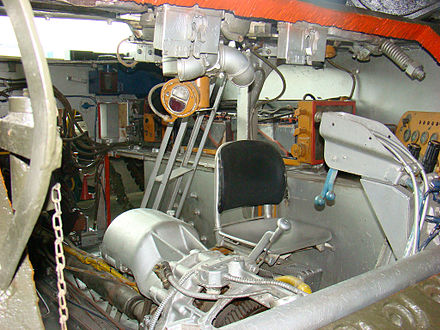 Cutaway Sherman showing transmission and driver's seat Shermandriver.jpg