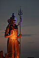Shiva staute, night view, Ancient Talav.jpg