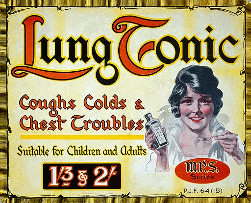 Showcard advertising Lung Tonic. Wellcome L0030508