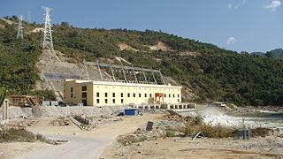 Shweli I Dam dam in Namhkam, Shan State
