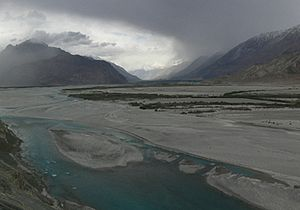 Shyok River - Shyok river and valley