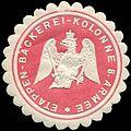 Siegelmarke Etappen - Bäckerei - Kolonne 8. Armee W0239466.jpg