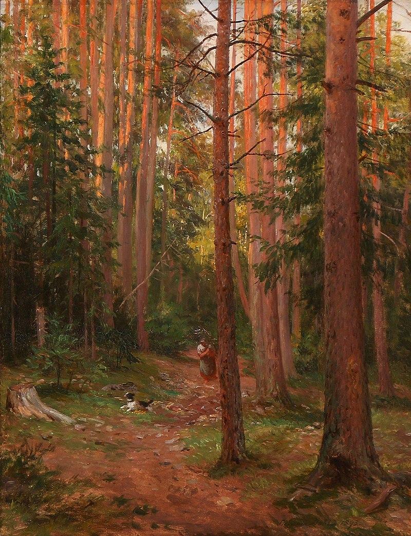 Siegwald Dahl - Waldpartie bei Abendbeleuchtung (1893).jpg