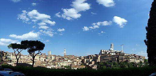 Siena toscana panorama