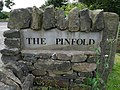 Sign at the entrance to the Pinfold - geograph.org.uk - 924353.jpg
