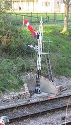 Signal post at Harmans Cross (7225289500).jpg