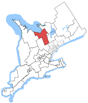 Simcoe—Grey - Simcoe—Grey in relation to Southern Ontario ridings