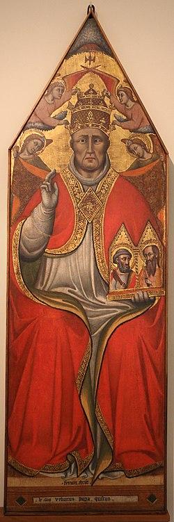 Simone dei crocifissi, urbano V, 1375 ca., forse dalla cattedrale di s. pietro 01.jpg