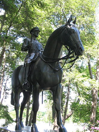 John Dill - Equestrian statue of Sir John Dill over his grave in Arlington National Cemetery.