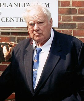 Sir Patrick Moore at the opening of the South Downs Planetarium.jpg