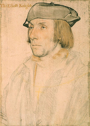 Thomas Elyot - Portrait of Sir Thomas Elyot, drawn by Holbein