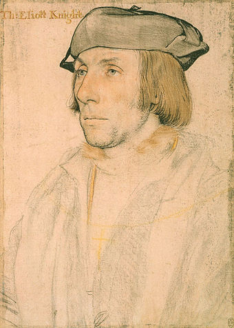 Portrait of Sir Thomas Elyot, c. 1532-34. Royal Collection, Windsor Castle. Sir Thomas Elyot by Hans Holbein the Younger.jpg