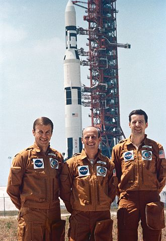 Pete Conrad - Paul J. Weitz, (left) Charles Conrad Jr. (middle); and Joseph P. Kerwin (right); America's first space station crew would spend 28 days in space