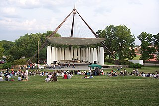 Slayter Center of Performing Arts outdoor concert bandshell on the campus of Purdue University in West Lafayette, Indiana, United States