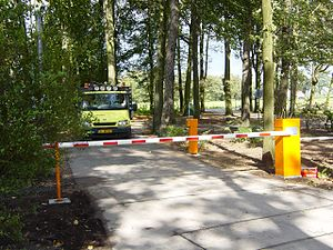 Boom barrier - Boom barriers in the Netherlands.
