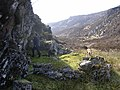 Small enclosure built beneath overhanging wall above Strathglass - geograph.org.uk - 172671.jpg