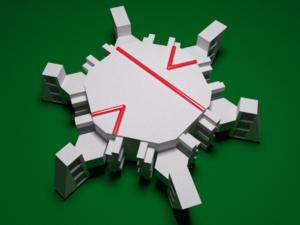 Socolar–Taylor tile - Image: Socolar Taylor 3D monotile with decoration