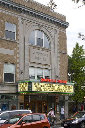 Somerville, Massachusetts - Entrance of the Somerville Theatre