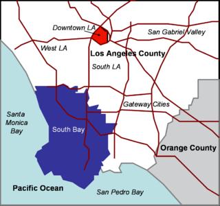 Region of the Los Angeles metropolitan area in California, United States