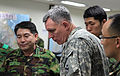 South Korean army Col. Kim, Somg-Heon, left, the planning officer for 2nd Operational Command (2OC), explains to U.S. Army Lt. Gen. John Johnson, second from left, the commanding general of the Eighth U.S. Army 110309-A-AP548-030.jpg