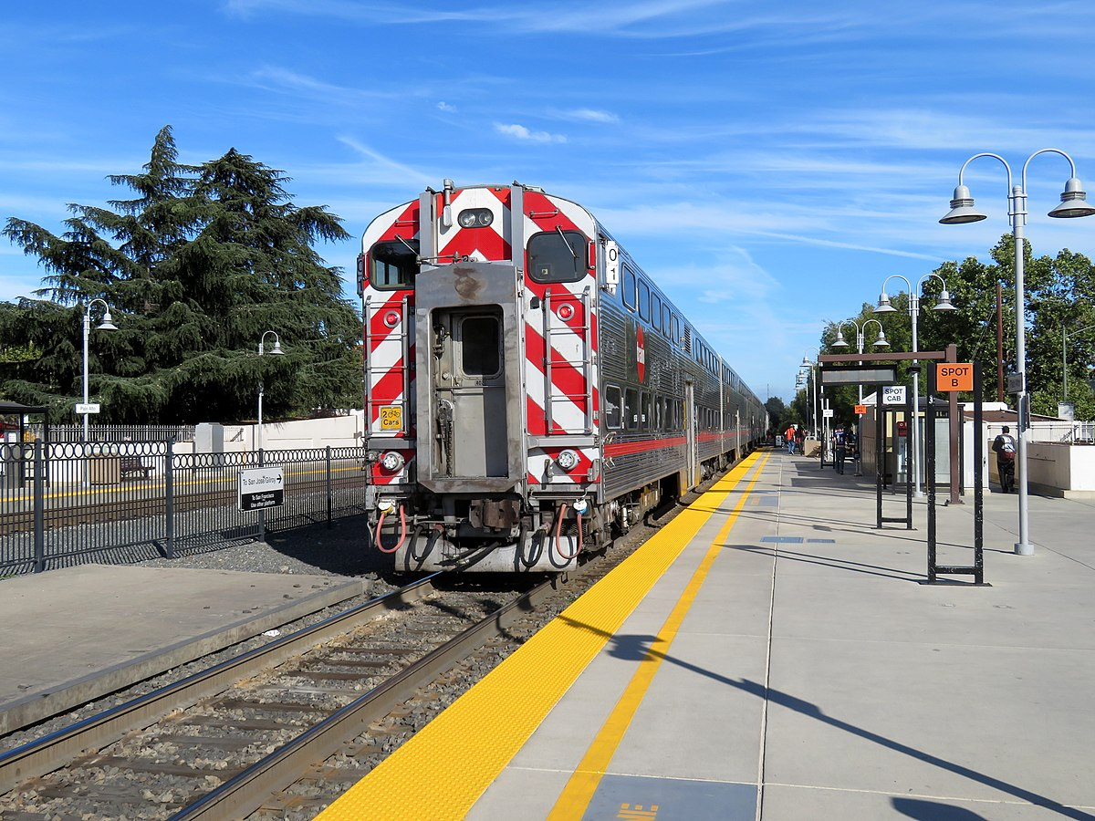 Px Southbound Train Leaving Palo Alto Station C July on Pattern Health Care