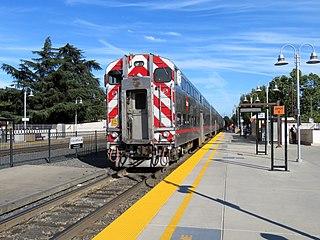 Railway station in Palo Alto, California