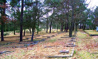 Beniaminów - Soviet prisoners-of-war cemetery between Beniaminów and Białobrzegi