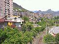 Soviet buildings, railway line, Alaverdi, Armenia.jpg