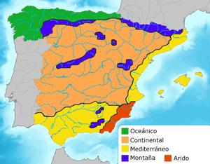 Climas en España / Spanish climate areas