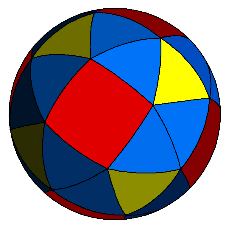 Spherical snub cube