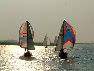 Burnham-on-Crouch - Image: Spinnakers on the River Crouch