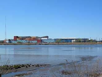Hackensack River - Separating Hudson (foreground) and Bergen Counties