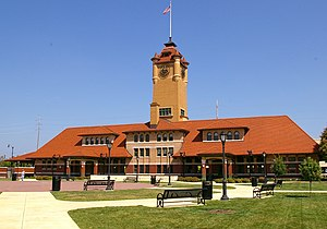 Springfield Union Station (Illinois) - The former Springfield Union Station is a component of the Lincoln Presidential Library Visitor Center