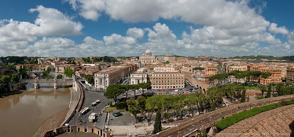 Vue depuis le commet du Castel Sant'Angelo à Rome. Photo de Marcus Winter