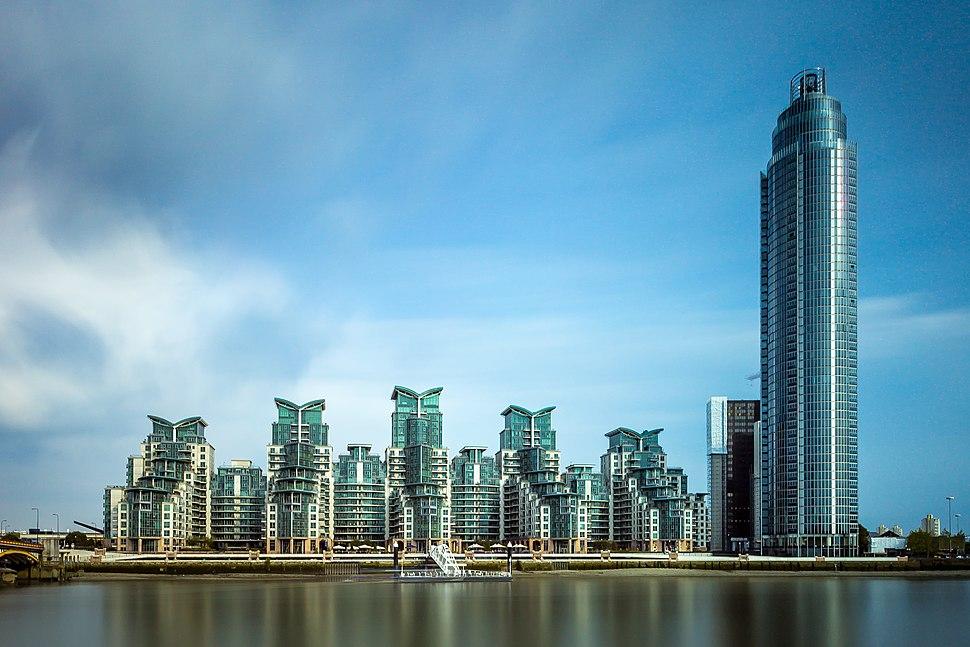 St George Wharf, July 2014