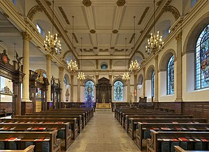 St Lawrence Jewry - Interior of St Lawrence Jewry