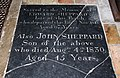 St Mary, Mendlesham - Ledger slab (geograph 2727190).jpg