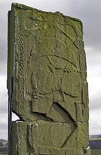 St Orlands Stone cross slab in Angus, Scotland, UK