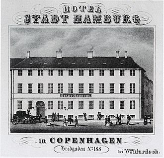 Hotel Phoenix Copenhagen - Advertisement for Stadt Hamburg from c. 1838