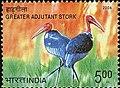 Stamp of India - 2006 - Colnect 158986 - Greater Adjutant Stork Leptoptilos dubius.jpeg