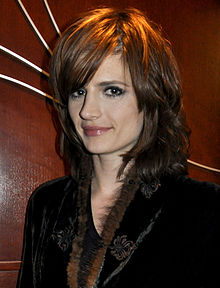 Stana Katic during the 2010 Winter Olympics